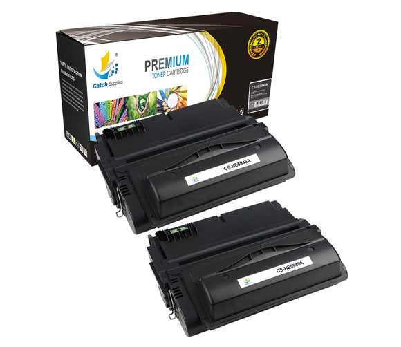 Catch Supplies Replacement HP Q5945A Standard Yield Laser Printer Toner Cartridges - Two Pack