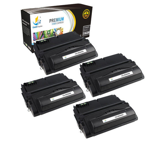 Catch Supplies Replacement HP Q5945A Standard Yield Laser Printer Toner Cartridges - Four Pack
