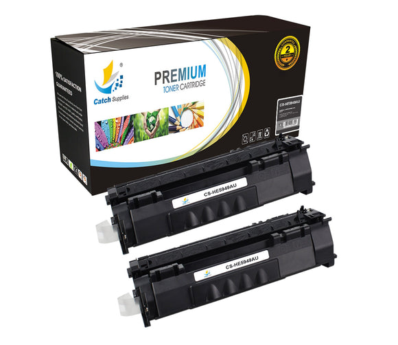 Catch Supplies Replacement HP Q5949A Standard Yield Laser Printer Toner Cartridges - Two Pack