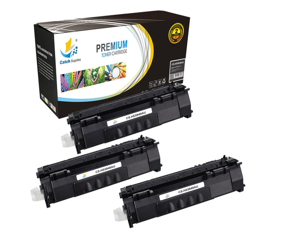 Catch Supplies Replacement HP Q5949A Standard Yield Laser Printer Toner Cartridges - Three Pack