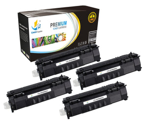 Catch Supplies Replacement HP Q5949A Standard Yield Laser Printer Toner Cartridges - Four Pack