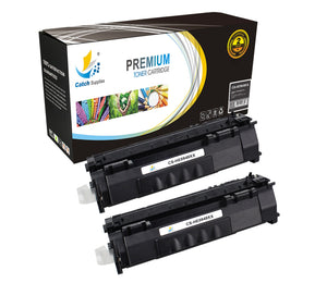 Catch Supplies Replacement HP Q5949X Jumbo Yield Black Toner Cartridge Laser Printer Toner Cartridges - Two Pack