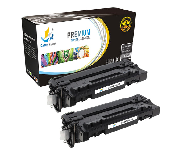 Catch Supplies Replacement HP Q7551A Standard Yield Laser Printer Toner Cartridges - Two Pack