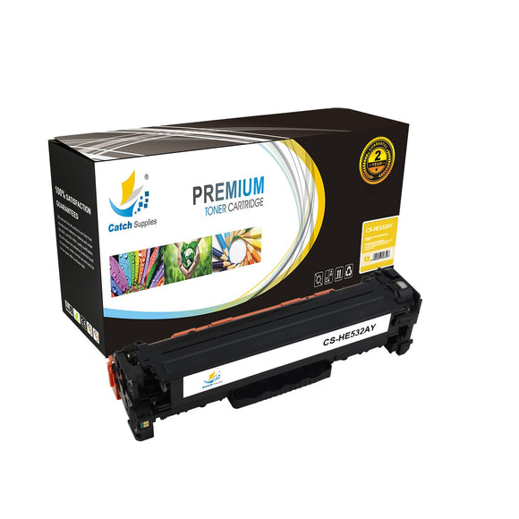 Catch Supplies Replacement CC532A – 304A Yellow Toner Cartridge