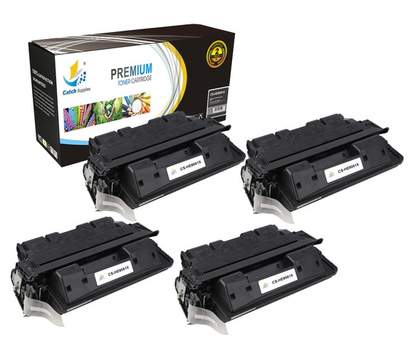 Catch Supplies Replacement C8061X Black Toner Cartridge 4 Pack