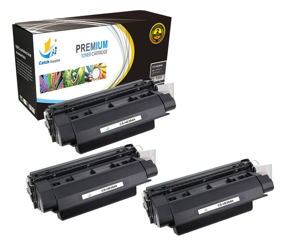 Catch Supplies Replacement HP CC364A Standard Yield Laser Printer Toner Cartridges - Three Pack