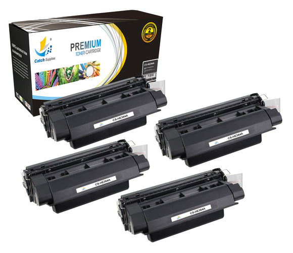 Catch Supplies Replacement HP CC364A Standard Yield Laser Printer Toner Cartridges - Four Pack