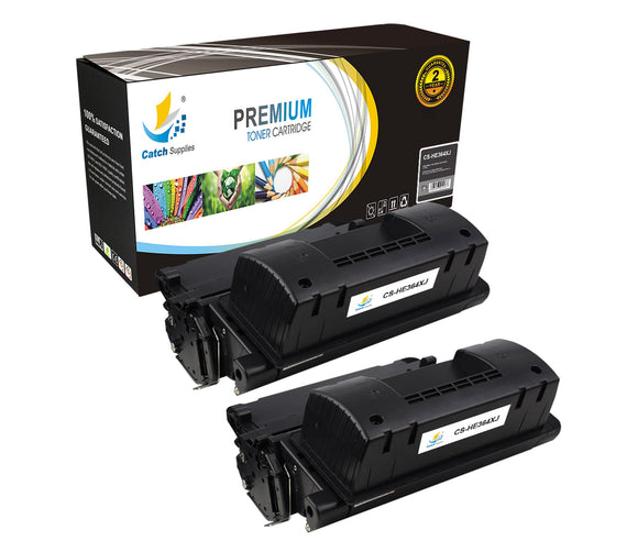 Catch Supplies Replacement HP CC364X Jumbo Yield Black Toner Cartridge Laser Printer Toner Cartridges - Two Pack