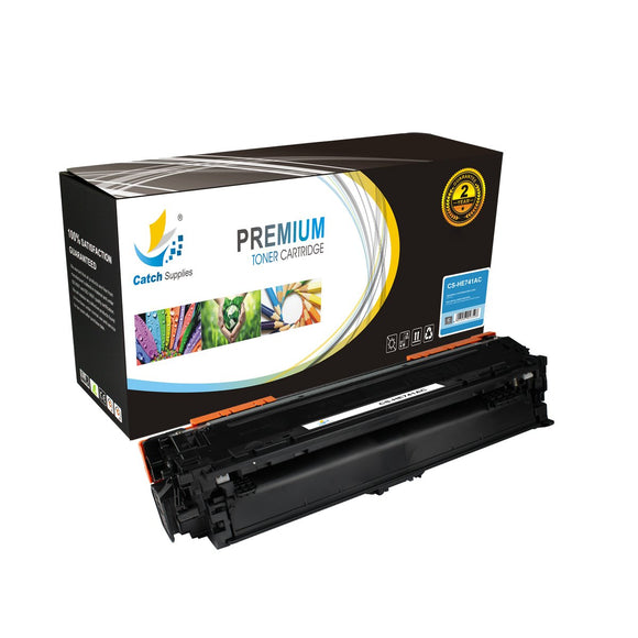 Catch Supplies Replacement HP CE741A Standard Yield Toner Cartridge