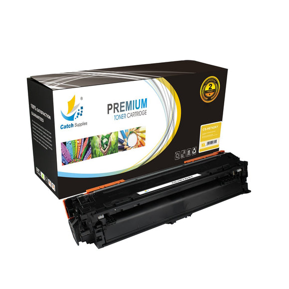 Catch Supplies Replacement CE742A – 307A Yellow Toner Cartridge