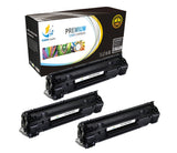 Catch Supplies Replacement HP CE278X High Yield Black Toner Cartridge Laser Printer Toner Cartridges - Three Pack