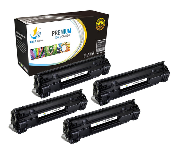 Catch Supplies Replacement CE278X Black Toner Cartridge 4 Pack