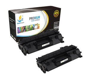Catch Supplies Replacement HP CF280X High Yield Black Toner Cartridge Laser Printer Toner Cartridges - Two Pack