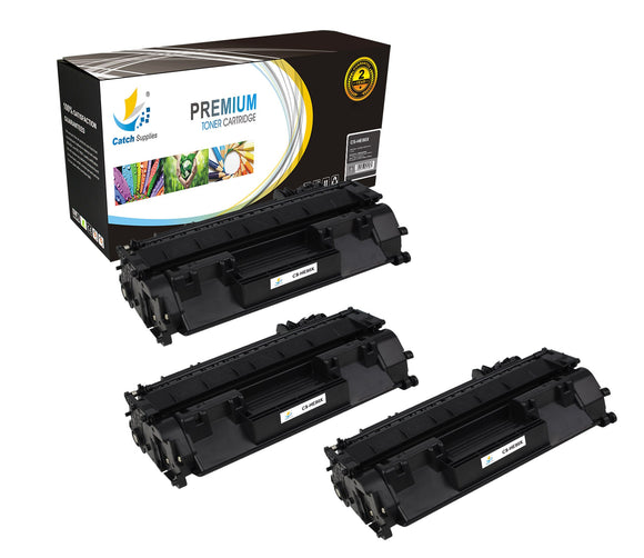 Catch Supplies Replacement CF280X Black Toner Cartridge 3 Pack