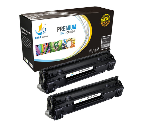 Catch Supplies Replacement HP CE285A Standard Yield Laser Printer Toner Cartridges - Two Pack