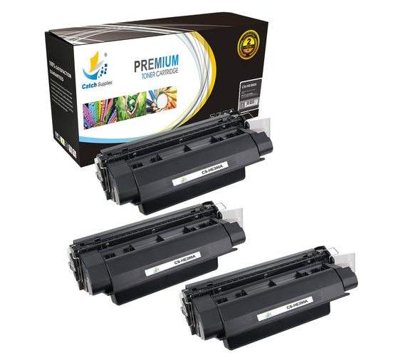 Catch Supplies Replacement CE390A Black Toner Cartridge 3 Pack