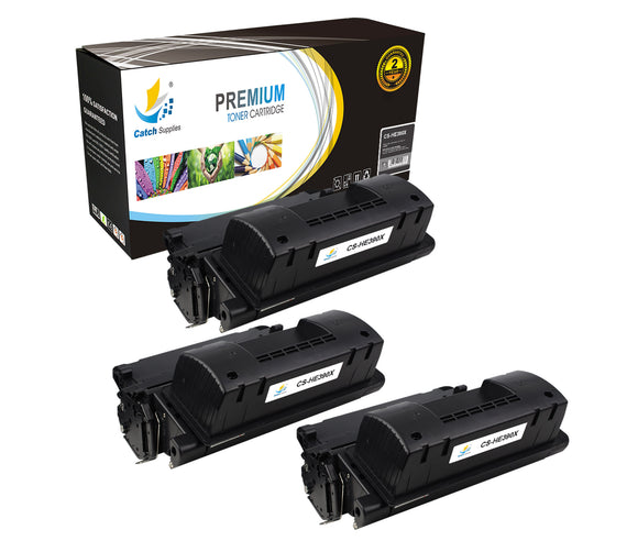 Catch Supplies Replacement HP CE390X High Yield Black Toner Cartridge Laser Printer Toner Cartridges - Three Pack