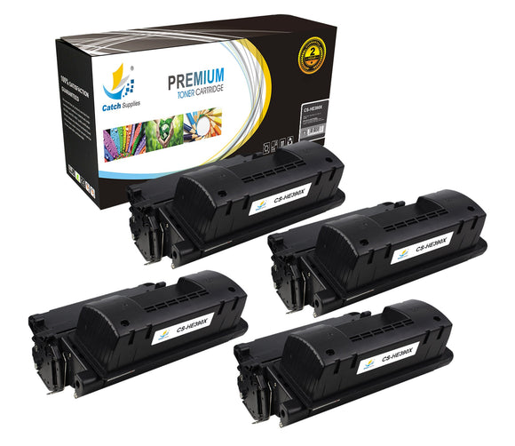 Catch Supplies Replacement CE390X Black Toner Cartridge 4 Pack