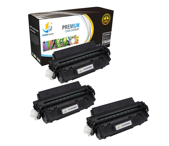 Catch Supplies Replacement HP C4096A Standard Yield Laser Printer Toner Cartridges - Three Pack