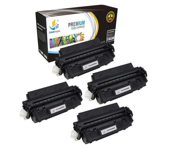 Catch Supplies Replacement HP C4096X Standard Yield Laser Printer Toner Cartridges - Four Pack