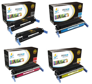 Catch Supplies Replacement HP C9720A,C9721A,C9722A,C9723A Standard Yield Laser Printer Toner Cartridges - Five Pack