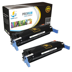Catch Supplies Replacement HP C9720A Standard Yield Laser Printer Toner Cartridges - Two Pack