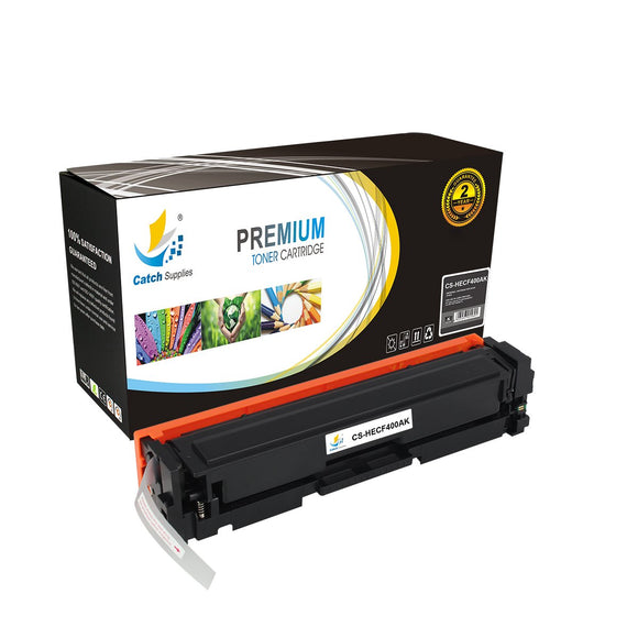 Catch Supplies Replacement HP CF400A Standard Yield Toner Cartridge