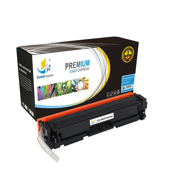 Catch Supplies Replacement HP CF401X High Yield Toner Cartridge