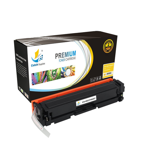 Catch Supplies Replacement HP CF402X High Yield Toner Cartridge