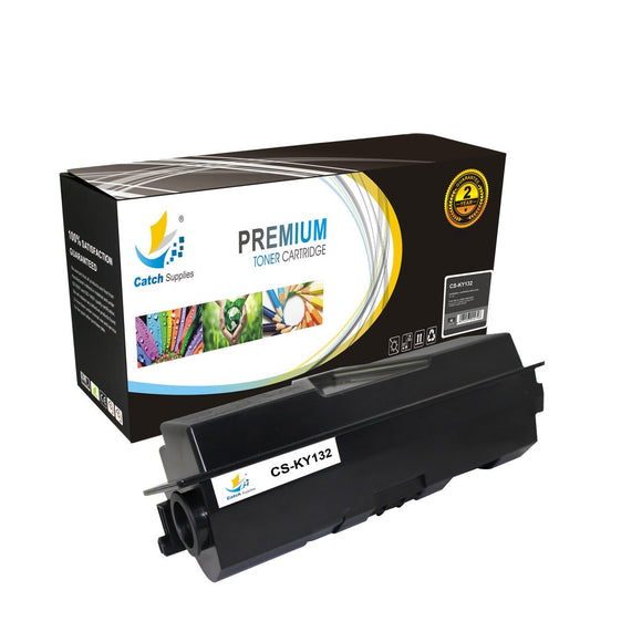 Catch Supplies Replacement TK-132 Black Toner Cartridge