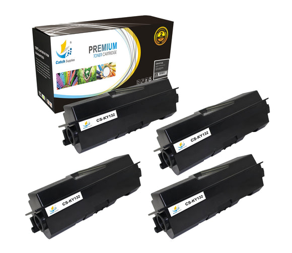 Catch Supplies Replacement TK-132 Black Toner Cartridge 4 Pack