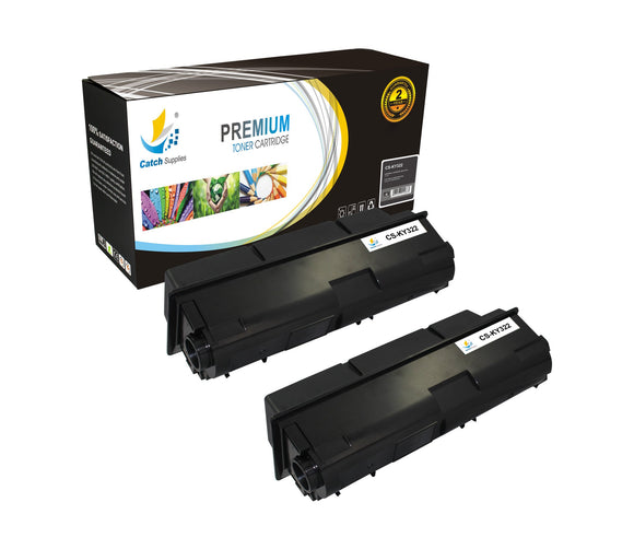Catch Supplies Replacement TK-322 Black Toner Cartridge 2 Pack