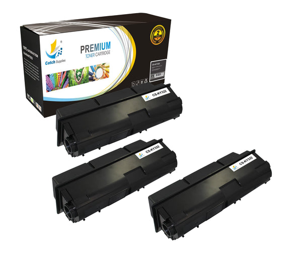 Catch Supplies Replacement Kyocera TK-322 Standard Yield Laser Printer Toner Cartridges - Three Pack