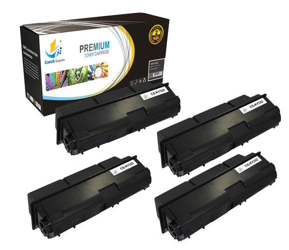 Catch Supplies Replacement Kyocera TK-322 Standard Yield Laser Printer Toner Cartridges - Four Pack