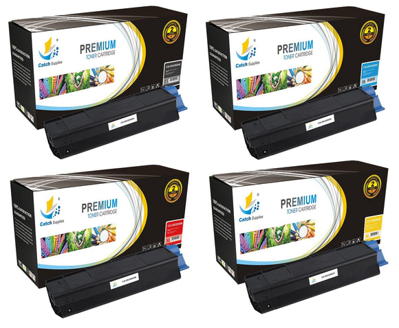 Catch Supplies Replacement C3200 Toner Cartridge 4 Pack Set