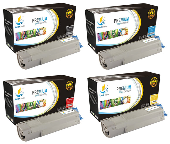 Catch Supplies Replacement C5500 Toner Cartridge 4 Pack Set