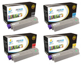 Catch Supplies Replacement Okidata 44315304,44315303,44315302,44315301 Standard Yield Laser Printer Toner Cartridges - Four Pack