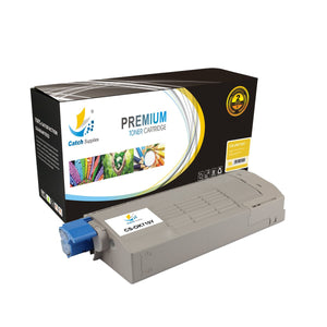 Catch Supplies Replacement Okidata C710 43866101 High Yield Toner Cartridge