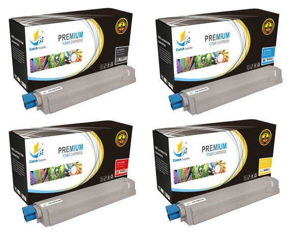 Catch Supplies Replacement C810 Toner Cartridge 4 Pack Set