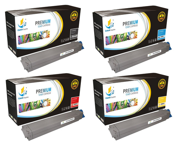 Catch Supplies Replacement C9600 Toner Cartridge 4 Pack Set