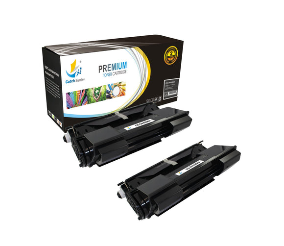Catch Supplies Replacement Okidata 52114501 Standard Yield Laser Printer Toner Cartridges - Two Pack