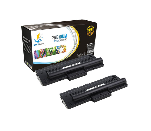 Catch Supplies Replacement Samsung ML-1710D3 Standard Yield Laser Printer Toner Cartridges - Two Pack