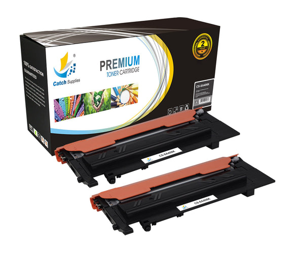 Catch Supplies Replacement Samsung CLT-K406S Standard Yield Laser Printer Toner Cartridges - Two Pack