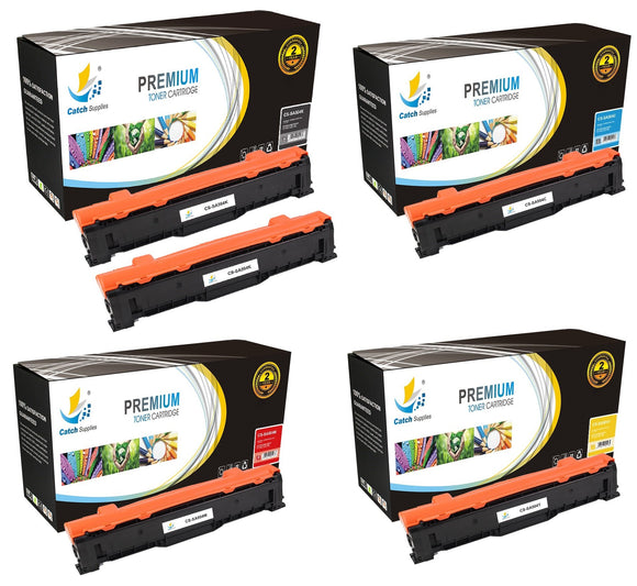 Catch Supplies Replacement Samsung CLT-K504S,CLT-C504S,CLT-M504S,CLT-Y504S Standard Yield Laser Printer Toner Cartridges - Five Pack