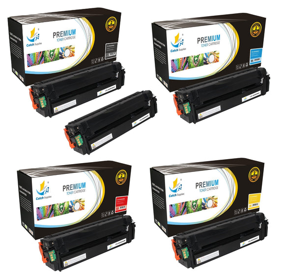 Catch Supplies Replacement Samsung CLT-K505L,CLT-C505L,CLT-M505L,CLT-Y505L High Yield Toner Cartridges Laser Printer Toner Cartridges - Five Pack