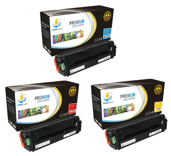 Catch Supplies Replacement Samsung CLT-C505L,CLT-M505L,CLT-Y505L High Yield Toner Cartridges Laser Printer Toner Cartridges - Three Pack