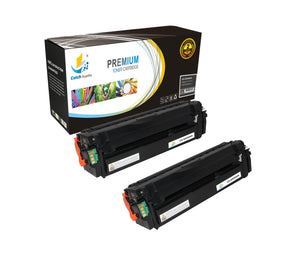 Catch Supplies Replacement Samsung CLT-K505L High Yield Black Toner Cartridge Laser Printer Toner Cartridges - Two Pack