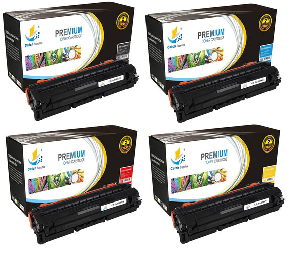 Catch Supplies Replacement Samsung CLT-K506L,CLT-C506L,CLT-M506L,CLT-Y506L High Yield Toner Cartridges Laser Printer Toner Cartridges - Four Pack
