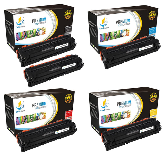 Catch Supplies Replacement Samsung CLT-K506L,CLT-C506L,CLT-M506L,CLT-Y506L High Yield Toner Cartridges Laser Printer Toner Cartridges - Five Pack