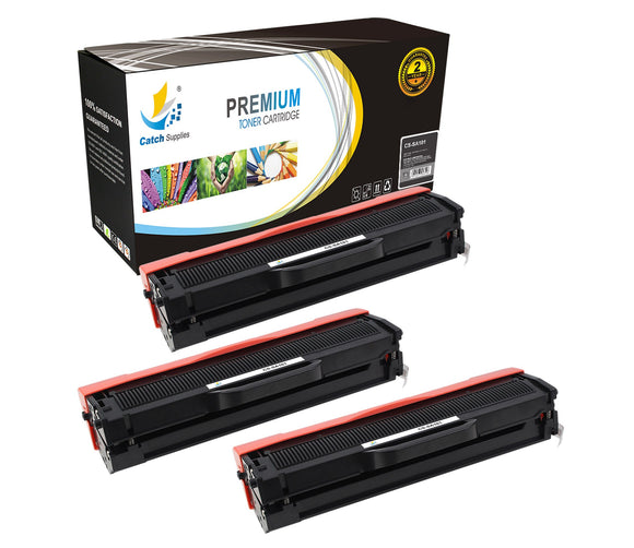 Catch Supplies Replacement Samsung MLT-D101S Standard Yield Laser Printer Toner Cartridges - Three Pack